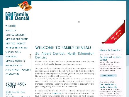 Family Dental (780-458-1991) - Onglet de site Web - http://www.family-dental.ca