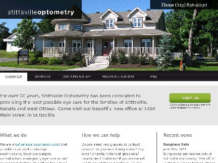 Stittsville Optometry (613-836-2030) - Onglet de site Web - http://www.stittsvilleoptometry.com