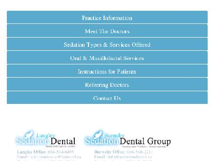 Langley Sedation Dental (604-514-6499) - Onglet de site Web - http://www.sedationdental.ca