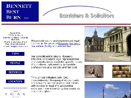 Bennett Best Burn LLP (416-362-3400) - Website thumbnail - http://www.bbburn.com