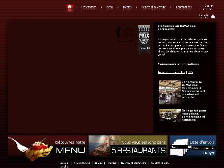 Buffet Des Continents (819-370-1099) - Website thumbnail - http://www.lebuffetdescontinents.com
