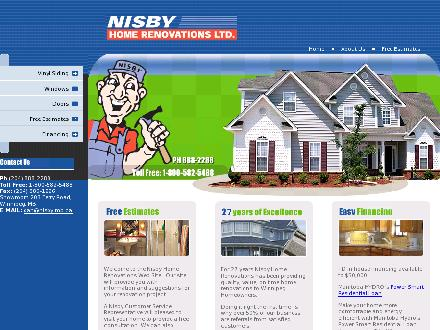 Nisby Home Renovations Ltd (204-888-2288) - Onglet de site Web - http://www.nisby.ca