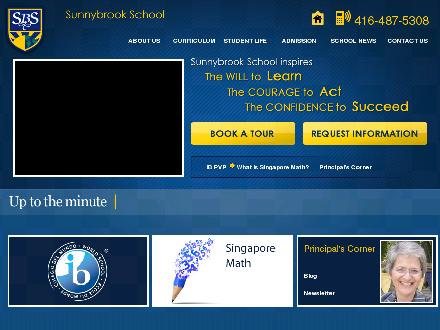 Sunnybrook School (416-487-5308) - Website thumbnail - http://www.sunnybrookschool.com