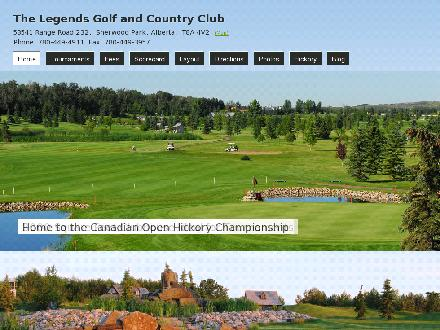 Legends Golf &amp; Country Club (780-449-4911) - Onglet de site Web - http://www.legendsgolf.ca