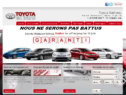 Toyota Gatineau (819-568-0066) - Onglet de site Web - http://www.toyotagatineau.com