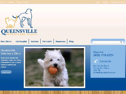 Queensville Veterinary Clinic (905-478-2254) - Website thumbnail - http://www.queensvillevet.com
