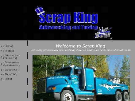 Scrap King Autowrecking & Towing Ltd (250-357-2091) - Website thumbnail - http://www.scrapkingauto.com