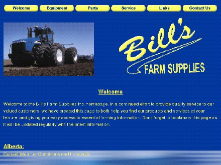 Bills Farm Supplies Inc (403-742-8327) - Website thumbnail - http://www.billsfarm.com