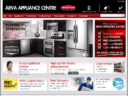 Arva Appliances Inc (519-660-8314) - Onglet de site Web - http://www.arvaappliances.com