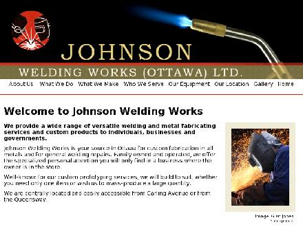 Johnson Welding Works (Ottawa) Ltd (613-233-6336) - Website thumbnail - http://www.johnsonweldingworks.com