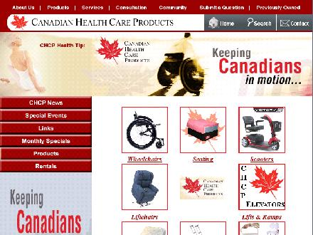 Canadian Healthcare Products (204-832-9963) - Onglet de site Web - http://www.chcp.ca