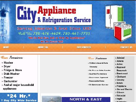 City Appliance & Refrigeration Service (780-476-4629) - Website thumbnail - http://www.cityappliance.com