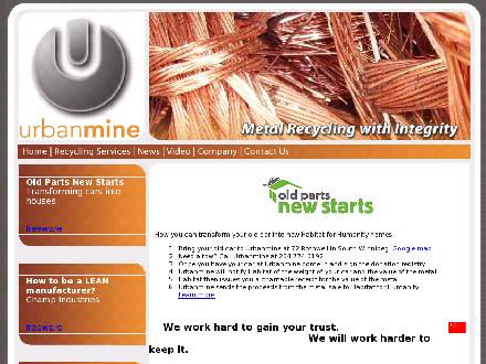 Urbanmine Inc (204-774-0192) - Onglet de site Web - http://www.urbanmine.ca