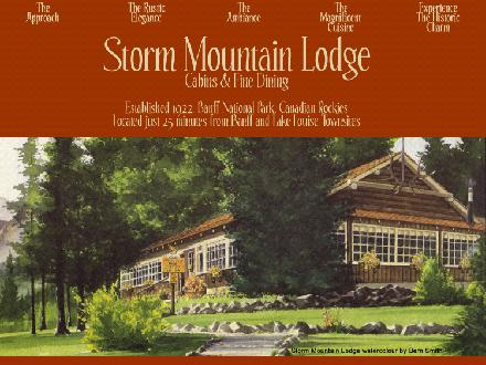 Storm Mountain Lodge & Cabins (403-762-4155) - Onglet de site Web - http://www.stormmountainlodge.com