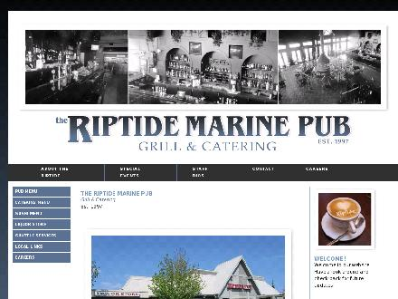 Riptide Marine Pub Grill &amp; Catering (250-830-0044) - Onglet de site Web - http://www.riptidepub.ca