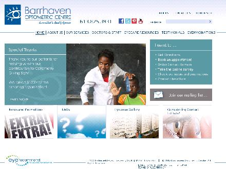 Barrhaven Optometric Centre (613-825-3931) - Onglet de site Web - http://www.barrhavenoptometric.com/