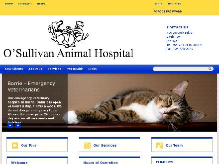 O'Sullivan Animal Hospital (705-728-8387) - Website thumbnail - http://osullivananimalhospital.com
