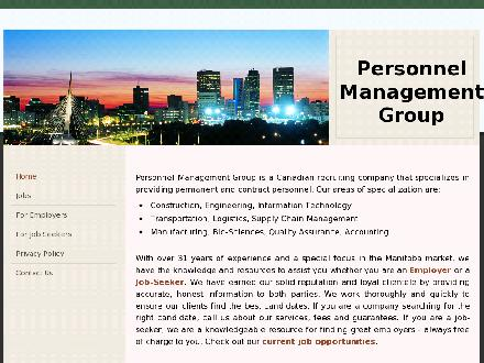 Personnel Management Group (204-982-1100) - Website thumbnail - http://www.pmg.mb.ca