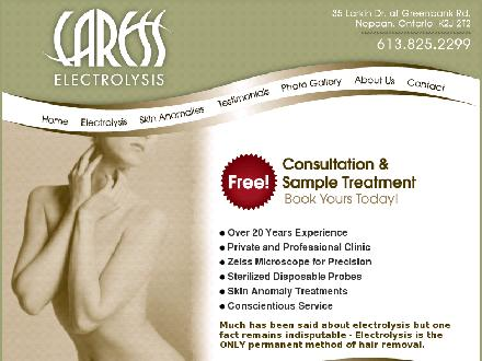Caress Electrolysis Ltd (613-825-2299) - Onglet de site Web - http://www.caresselectrolysis.com