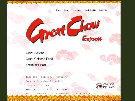 Great Chow Chinese Takeout &amp; Delivery (613-547-1133) - Website thumbnail - http://www.greatchow.ca
