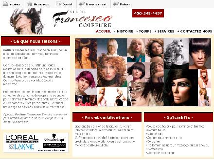 Coiffure Francesco Enr (450-348-4457) - Onglet de site Web - http://coiffurefrancesco.com