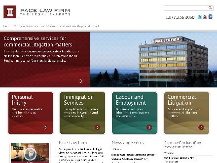 Pace Law Firm (226-909-3139) - Website thumbnail - http://www.pacelawfirm.com