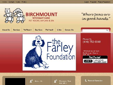 Birchmount Veterinary Clinic (416-752-6048) - Website thumbnail - http://www.birchmount.com