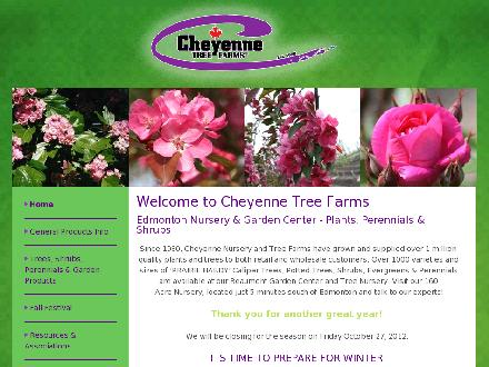 Cheyenne Tree Farms Ltd (780-929-8102) - Onglet de site Web - http://www.cheyennetree.ca