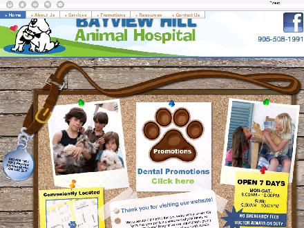 Bayview Hill Animal Hospital (905-508-1991) - Website thumbnail - http://bayviewhill.ca/
