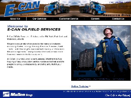 E-Can Oilfield Services LP (780-724-4018) - Onglet de site Web - http://www.e-can-oilfield.com