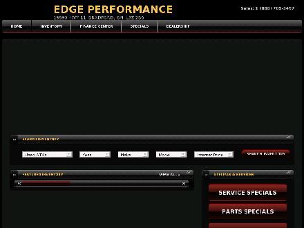 Edge Performance Centre Inc (905-775-1717) - Website thumbnail - http://www.edgeperformance.ca