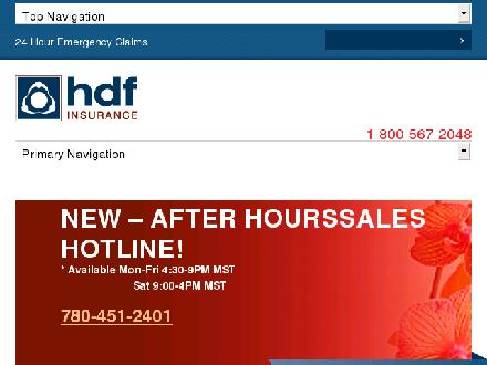 HDF Insurance & Financial Group (1-855-860-7129) - Onglet de site Web - http://www.hdfinsurance.com