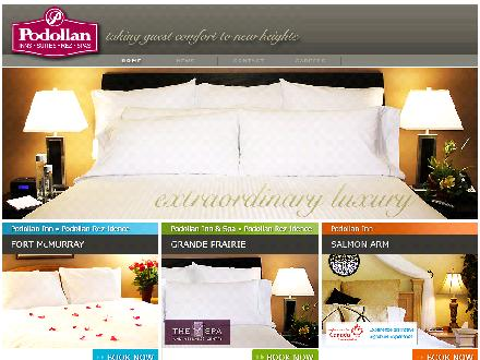 Podollan Inn & Spa (780-357-7289) - Website thumbnail - http://www.podollan.com