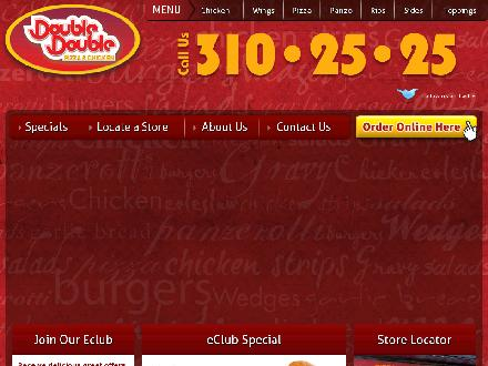 Double Double Pizza & Chicken (807-345-0000) - Onglet de site Web - http://www.doubledouble.ca