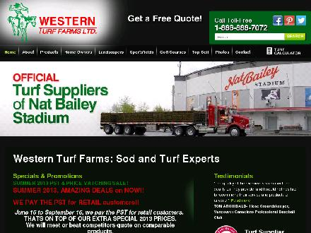 Western Turf Farms Ltd (604-888-7072) - Onglet de site Web - http://www.westernturffarms.com