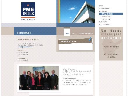 PME Inter Notaires (819-416-0781) - Website thumbnail - http://www.pmeinter.com/paretanguay