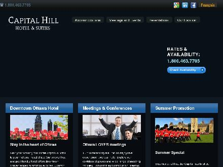 Capital Hill Hotel And Suites (613-235-1413) - Onglet de site Web - http://www.capitalhill.com