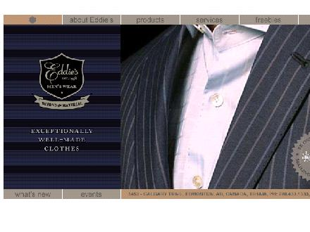 Eddie's Men's Wear Ltd (780-433-1333) - Onglet de site Web - http://www.eddiesmenswear.com