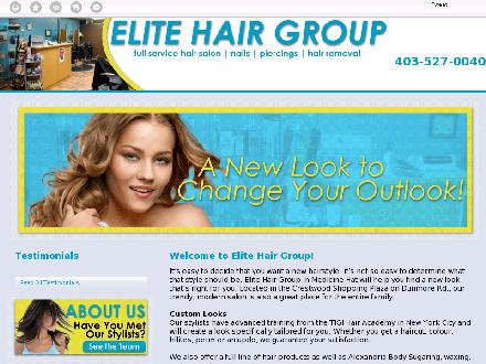 Elite Hair Group (403-548-9089) - Website thumbnail - http://elitehairgroup.ca/