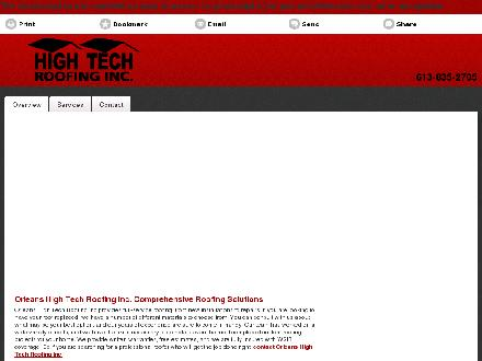 High Tech Roofing Inc (613-835-2705) - Onglet de site Web - http://hightechroofing.ca/