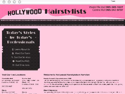 Hollywood Hairstylists (905-389-1627) - Website thumbnail - http://hollywoodhairstylists.ca/