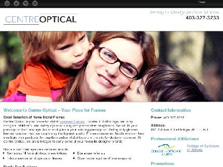 Centre Optical (403-327-3233) - Website thumbnail - http://centreopticallethbridge.ca/