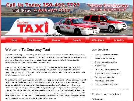 Courtesy Cabs Ltd (250-492-7778) - Website thumbnail - http://www.courtesycabs.ca