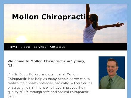 Mollon Chiropractic (902-567-1221) - Website thumbnail - http://www.mollonchiro.com