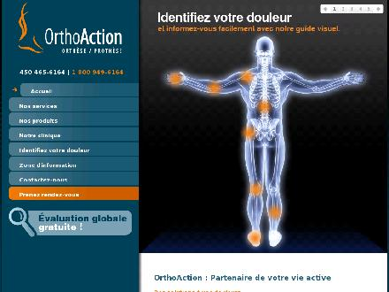 Ortho-Action Inc (450-876-1066) - Website thumbnail - http://www.orthoaction.com
