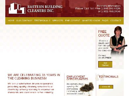 Eastern Building Cleaners Inc (902-800-2629) - Website thumbnail - http://www.easternbuildingcleaners.com