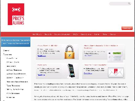 Price's Alarm Systems Ltd (250-558-9866) - Onglet de site Web - http://www.pricesalarms.ca