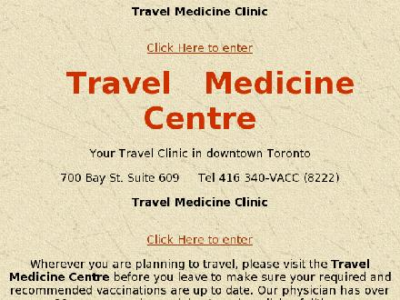 Travel Medicine Centre (416-340-8222) - Website thumbnail - http://www.travelclin.com