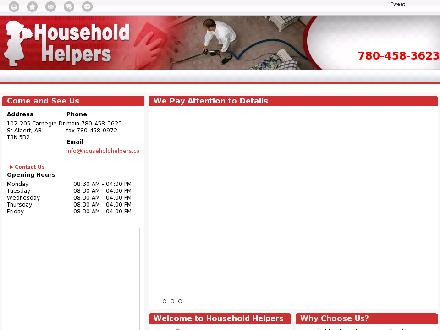 Household Helpers (780-458-3623) - Onglet de site Web - http://www.householdhelpers.ca