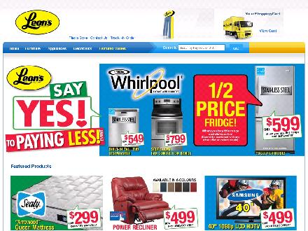 Leon's Furniture & Appliances (705-472-0510) - Website thumbnail - http://www.leons.ca